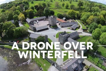 a drone over winterfell - Game of Thrones Drehort Winterfell
