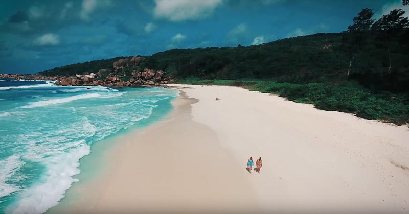Seychellen Drohnenvideo La Digue