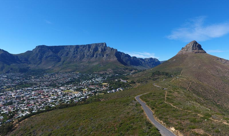 capetown drone table mountain